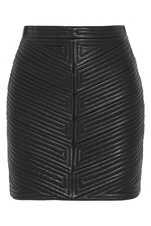 Balmain Quilted Leather Mini Skirt