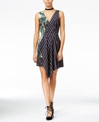 Rachel Roy Printed Fit And Flare Dress Only At Macy's Hunter Black