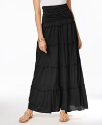 Inc International Concepts Tiered Convertible Maxi Skirt Only At Macy's Deep Black