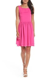Eliza J Women's Fit And Flare Dress Hot Pink