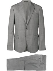 Z Zegna Two Piece Fitted Suit Grey