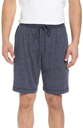 Daniel Buchler Recycled Cotton Blend Lounge Shorts Navy Heather