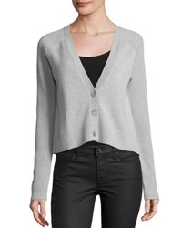 Todd And Duncan Cashmere Button Front Cropped Cardigan Coyote