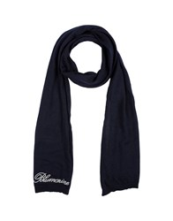 Blumarine Oblong Scarves Dark Blue