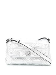 Emporio Armani Embossed Metallic Shoulder Bag 60
