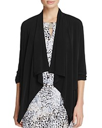 Calvin Klein Roll Sleeve Open Front Cardigan Black