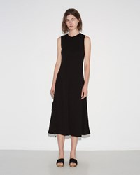 Proenza Schouler Long Flared Dress Black