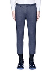 Topman Skinny Fit Cropped Pants Blue