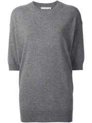 Vince Elbow Sleeve Jumper Grey