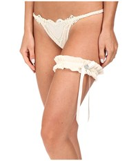 Only Hearts Club Sweetheart G String 9922 Crystal Heart Garter Ivory Women's Underwear White