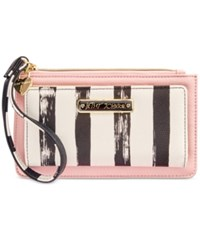 Betsey Johnson Stripe Wallet Blush
