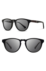 Shwood 'Francis' 49Mm Sunglasses Black Ebony Grey
