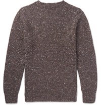 Anderson And Sheppard Donegal Wool Cashmere Blend Sweater Brown