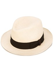 Loro Piana Contrast Hat Men Straw 60 Nude Neutrals