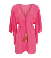 Lazul V Neck Tunic Dress Female Pink