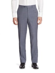 Saks Fifth Avenue Kale Wool Trousers Blue
