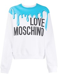 Love Moschino Paint Print Logo Print Jumper 60