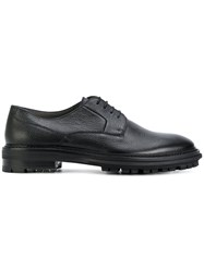Lanvin Ridged Sole Oxford Shoes Leather Rubber Black