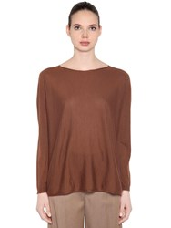 Max Mara Cashmere Knit Sweater Brown
