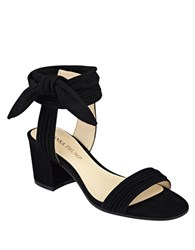 Ivanka Trump Edline Suede Sandals Black