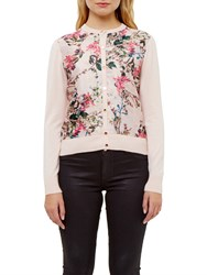 Ted Baker Karlia Blossom Jacquard Cardigan Nude Pink