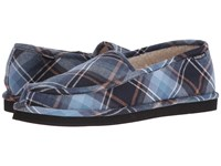 Quiksilver Surf Check '15 Blue Black Brown Men's Slip On Shoes Navy