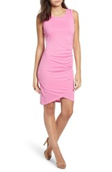 Leith Ruched Body Con Tank Dress Pink Trillium
