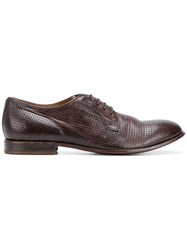 Moma Perforated Lace Up Shoes Brown