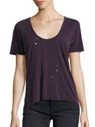 Joe's Jeans Silk Blend T Shirt Deep Orchid