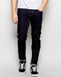 Esprit Raw Jeans In Slim Fit Blue