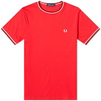 Fred Perry Authentic Twin Tipped Tee Red