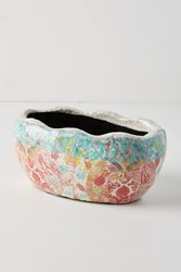 Anthropologie Bismark Garden Pot Purple