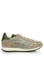 Alexander Mcqueen Laser Cut Saw Sole Low Top Trainers