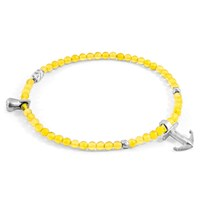 Anchor And Crew Yellow Amber Tropic Silver Stone Bracelet Yellow Orange Silver
