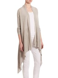 Saks Fifth Avenue Chapman Cascading Modal And Cashmere Cardigan Limestone