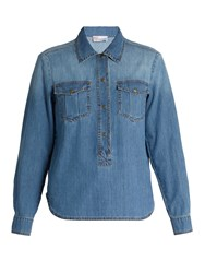 Red Valentino Patch Pocket Denim Shirt