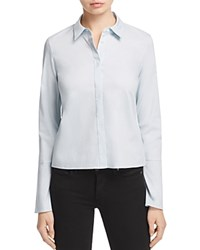 Dylan Gray Cropped Bell Sleeve Shirt 100 Exclusive Blue