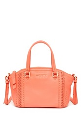 Cole Haan Nickson Mini Leather Satchel Orange