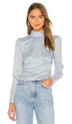 House Of Harlow 1960 X Revolve Ahra Blouse In Blue. Dusty Blue