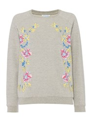 Dickins And Jones Polly Printed Sweat Grey
