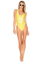 Private Party Island Vibes One Piece Swimsuit Yellow