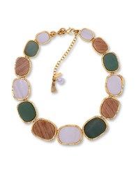 Lonna And Lilly Stone Collar Necklace Green