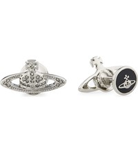 Vivienne Westwood Mini Bas Relief Orb Cufflinks Black
