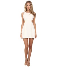 Bcbgeneration Side Cutout Bow Tie Dress Whisper White Women's Dress