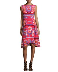 Peter Pilotto Circle Print Fit And Flare Tank Dress Red