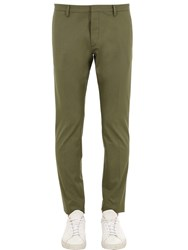 Dsquared Tidy Fit Cotton Twill Chino Pants Sage