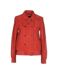 Stefanel Coats And Jackets Jackets Women Red