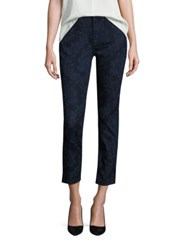 Jen7 Riche Touch Floral Jacquard Skinny Jeans Lasered Jacquard