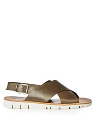 Armando Cabral Essex Crossover Leather Sandals Brown