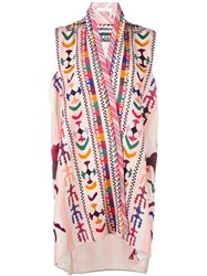 Chloe Embroidered Tunic Nude Neutrals